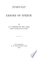 Every day Errors of Speech