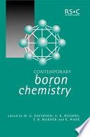 Contemporary Boron Chemistry Book PDF