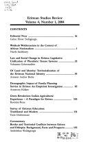 Eritrean Studies Review