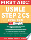 First Aid for the USMLE Step 2 CS  Third Edition