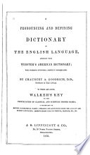 A Pronouncing and Defining Dictionary of the English Language Pdf/ePub eBook