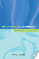 Measures of Health Literacy