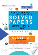 """Oswaal Karnataka PUE Solved Papers II PUC English Chapterwise & Topicwise (For March 2020 Exam)"" by Oswaal Editorial Board"