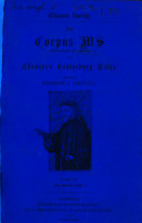 Pdf ¬The Corpus Ms of Chaucer's Canterbury Tales0