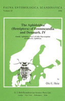 The Aphidoidea (Hemiptera) of Fennoscandia and Denmark. IV