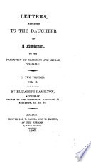 Letters Addressed to the Daughter of a Nobleman on the Formation of Religious and Moral Principle Book