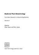 Medicinal Plant Biotechnology