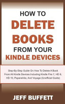 Pdf How To Delete Books From Your Kindle Devices