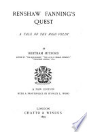 Renshaw Fanning's Quest, a Tale of the Hight Veldt