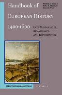 Handbook of European History 1400   1600