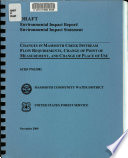 Draft Environmental Impact Report environmental Impact Statement for the Proposed Changes in Mammoth Creek Instream Flow Requirements  Point of Measurement  and Place of Use