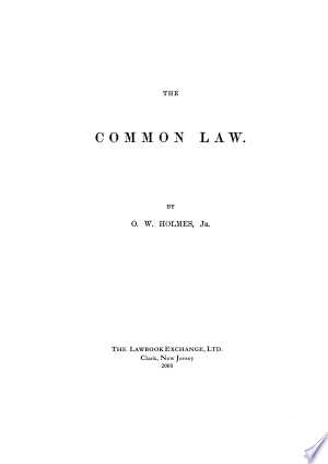 [pdf - epub] The Common Law - Read eBooks Online
