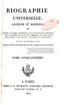 Biographie universelle, ancienne et moderne
