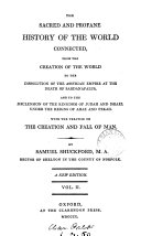 Pdf The sacred and profane history of the world connected. With the treatise on the creation and fall of man