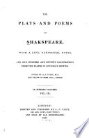 The Plays and Poems of Shakspeare  Merchant of Venice  Midsummer night s dream  Love s labor s lost Book