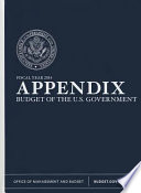 Budget of the United States Government, Appendix, Fiscal Year 2014