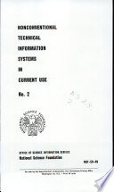 Nonconventional Technical Information Systems In Current Use