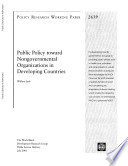 Public Policy Toward Non-governmental Organizations in Developing Countries