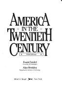 America in the Twentieth Century Book