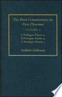 The Penn Commentary On Piers Plowman Volume 1