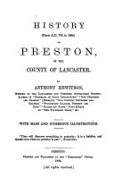 Pdf History (from A.D. 705 to 1883) of Preston in the County of Lancaster