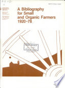 A Bibliography For Small And Organic Farmers 1920 78