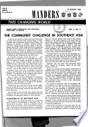 The Communist Challenge In Southeast Asia
