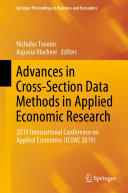 Advances in Cross Section Data Methods in Applied Economic Research