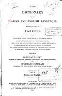 A New Dictionary of the Italian and English Languages