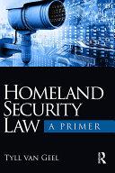 Homeland Security Law Pdf/ePub eBook