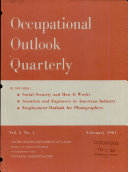 Occupational Outlook Quarterly