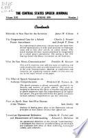 CSSJ. Central States Speech Journal