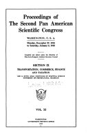 Proceedings of the second Pan American Scientific Congress, Washington, U.S.A., Monday, December 27, 1915 to Saturday, January 8, 1916 1915- 1916 v. 11