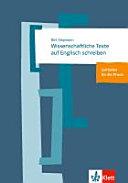 Wissenschaftliche Texte auf Englisch schreiben : ein Leitfaden