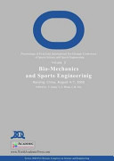 Proceedings of First Joint International Pre Olympic Conference of Sports Science and Sports Engineering  Bio mechanics and sports engineering