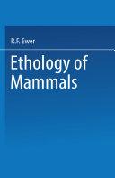 Ethology of Mammals