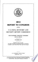 Report to Congress of the U.S.-China Economic and Security Review Commission