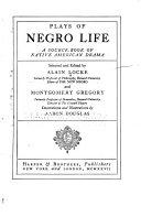 Plays of Negro Life