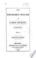 The Poetical Works of Lord Byron, Complete