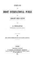 Précis de droit international public ou droit des gens