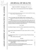 Asian American And Pacific Islander Journal Of Health