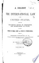 Digest Of The International Law Of The United States