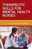 Ebook Therapeutic Skills For Mental Health Nurses