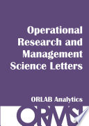 Operational Research And Management Science Letters