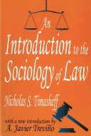 An Introduction to the Sociology of Law Pdf/ePub eBook