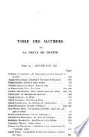 Revue de Genève