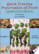 Quick Freezing Preservation Of Foods Foods Of Plant Origin Book PDF