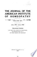 Journal of the American Institute of Homœopathy