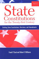 State Constitutions for the Twenty-first Century, Volume 2 [Pdf/ePub] eBook