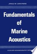 Fundamentals Of Marine Acoustics Book PDF